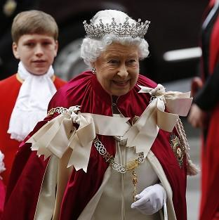 This Is Local London: The Queen arrives for the Order of the Bath Service at Westminster Abbey.