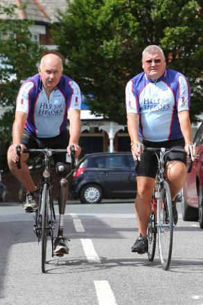 Former policeman Malcolm Hingle with friend James Snark ahead of the BBBR challenge