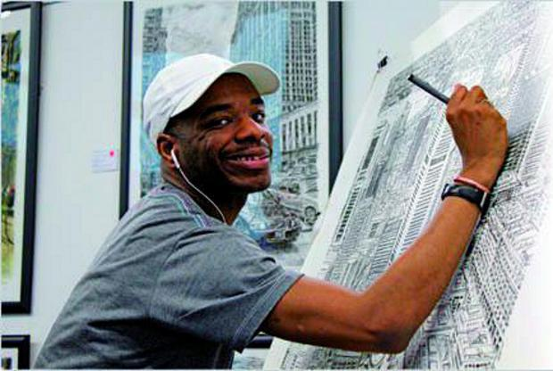 Stephen Wiltshire MBE has donated some prizes for the auction which will be held at the ball