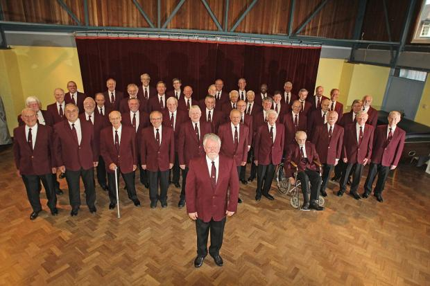 The Epsom Male Voice Choir, with Neil MacKay pictured centre-front