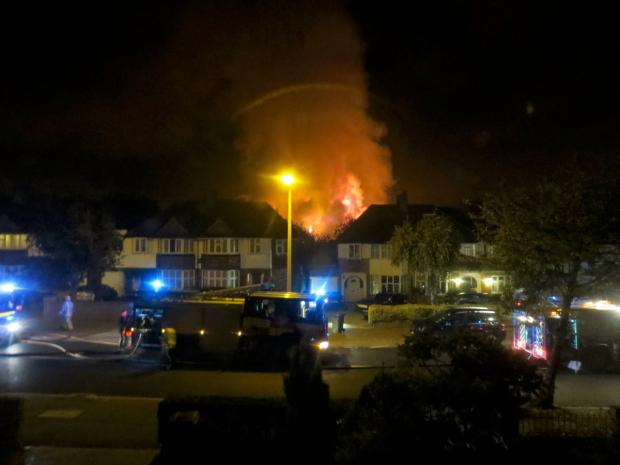 This Is Local London: Fatal fire: Gibson Court on the night