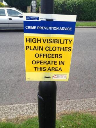 The obscurely worded sign caused a giggle on Twitter when it appeared in Southgate