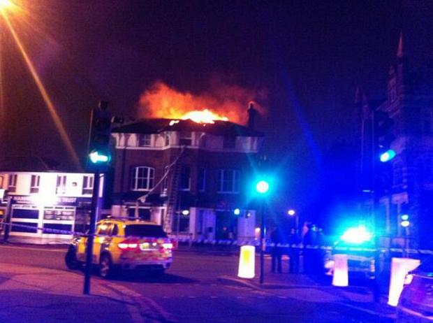This Is Local London: A picture of the fire (by @MPSBrockleySgt)