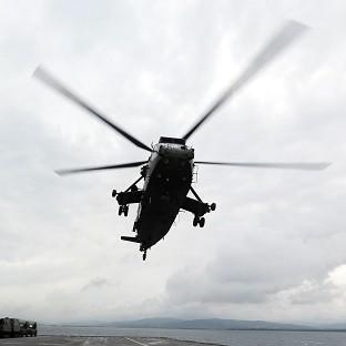 This Is Local London: A Sea King helicopter was involved in the search
