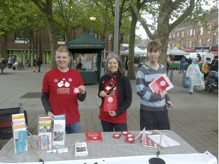 Supporters of the Waltham Forest Cycling Campaign