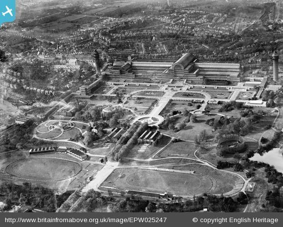 This Is Local London: Crystal Palace Park and Crystal Palace, Penge, 1928. Photo from English Heritage