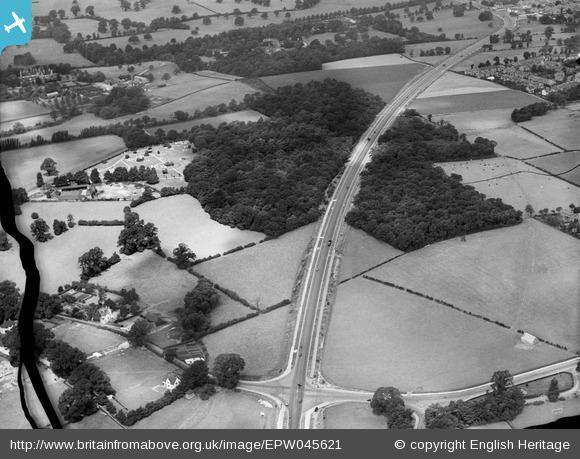This Is Local London: The Sidcup By Pass Road (A20) cutting through Beaver's Wood, Chislehurst, 1934. Photo from English Heritage