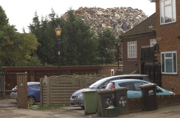This Is Local London: The Waste4Fuel site in Cornwall Drive, St Paul's Cray