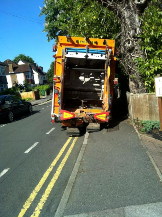 This Is Local London: SUTT YELL: Bin lorry stuck in Sutton town centre pot hole