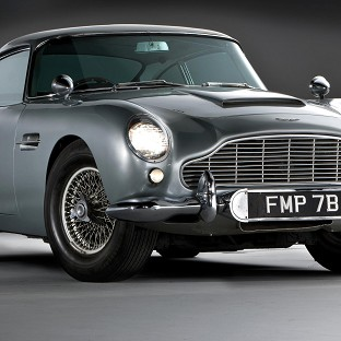 The 1964 Aston Martin DB5, driven by Sean Connery in Goldfinger