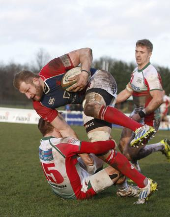 Shortlisted: Scottish's Mark Bright in action against Plymouth Albion		 	SP82868