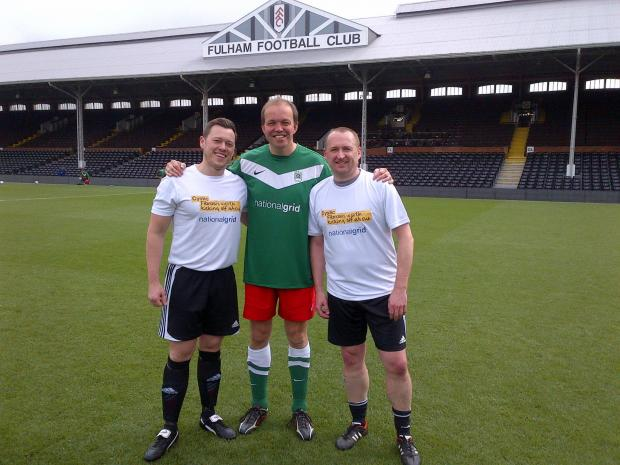This Is Local London: David Burrowes playing at Craven Cottage, Fulham, for the cystic fibrosis trust