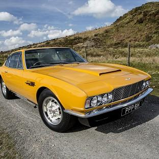 The famed 1970 Aston Martin DBS which starred in the