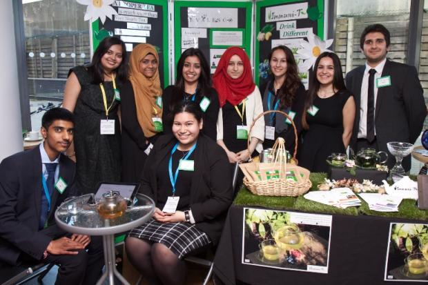 This Is Local London: Kingsbury High School's Young Enterprise team, Evalesco: Pic from Claire Williams