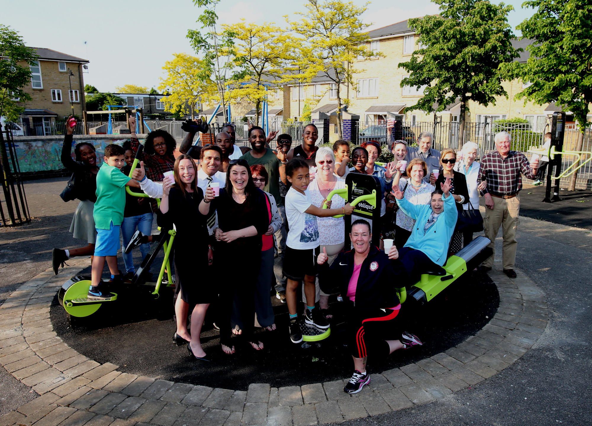 Community outdoor gym opens