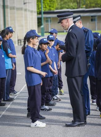 Chief inspector visits junior police cadets