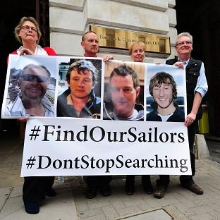 This Is Local London: Relatives of the missing yachtsmen pressed for the search to continue