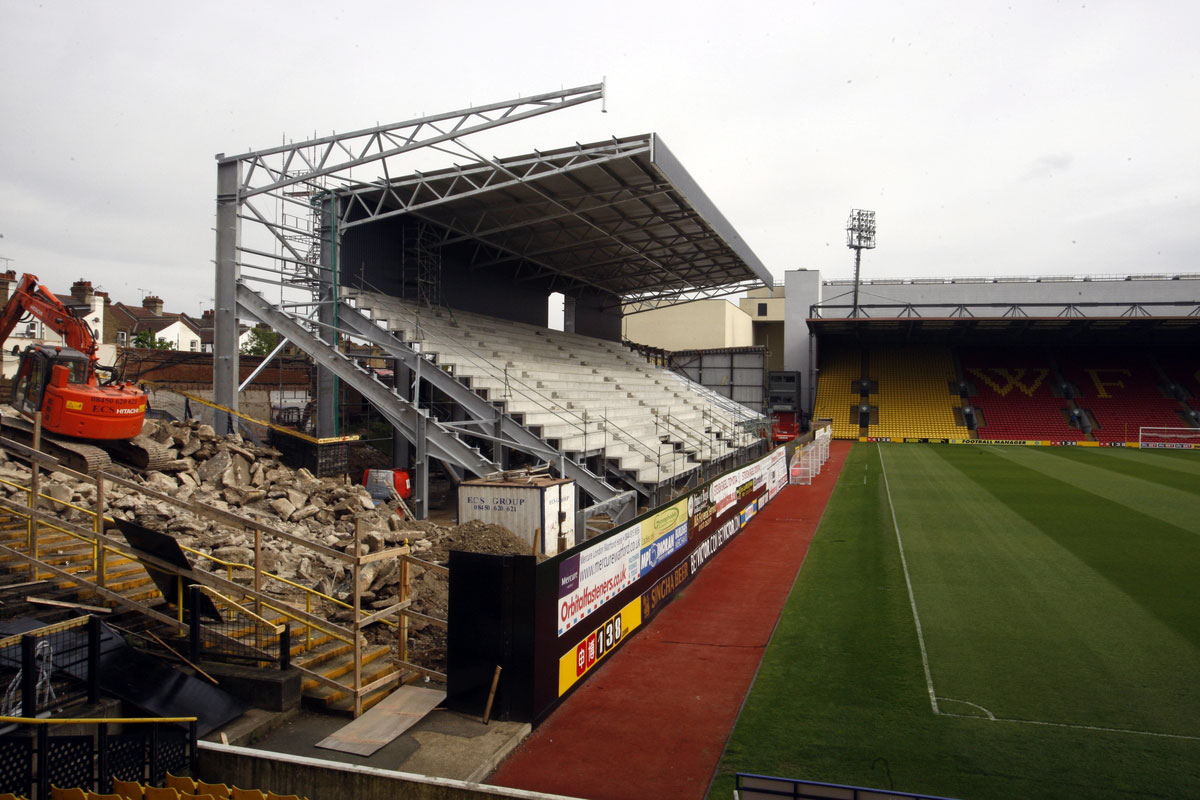 Movements into Watford's new Community Stand are to be handled separately. Picture: Holly Cant
