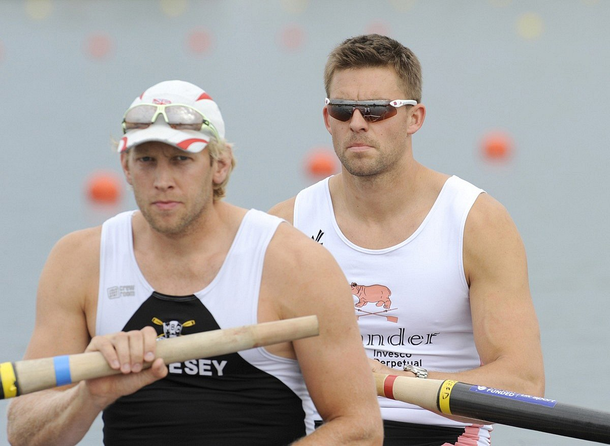 Daddy cool: Andrew Triggs Hodge, left, is ready to medal at the European Championships this week