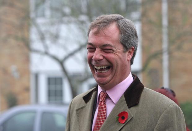 UKIP leader Nigel Farage had predicted a