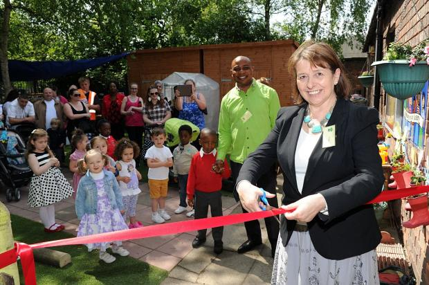 This Is Local London: MP for Erith and Thamesmead Teresa Pearce cut the ribbon