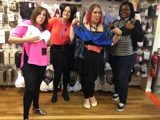 Staff at some of the stores in the centre have already begun donating their unwanted underwear