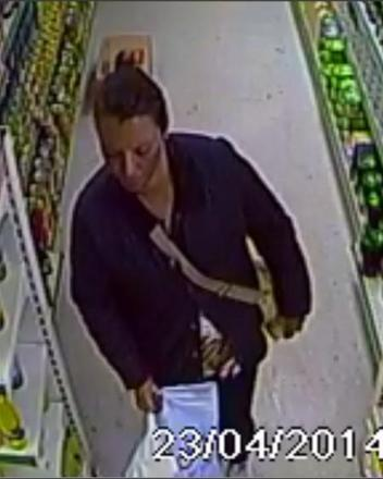 Police are hunting for this man in connection with a theft at the International Supermarket in High Street, Walthamstow in April this year