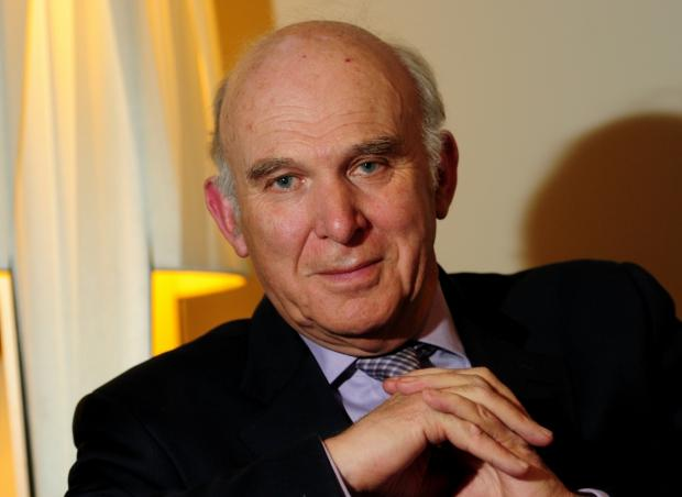 Vince Cable: Lending his support to campaign