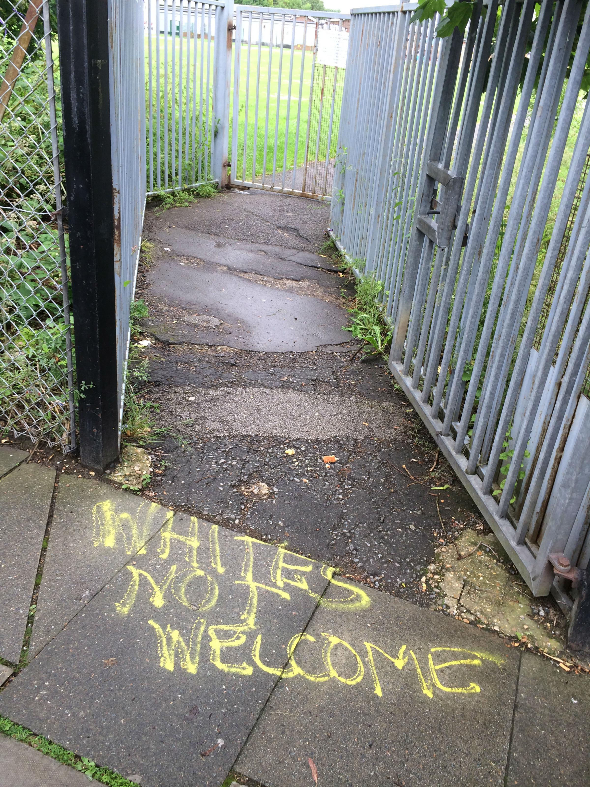 Whites not welcome graf