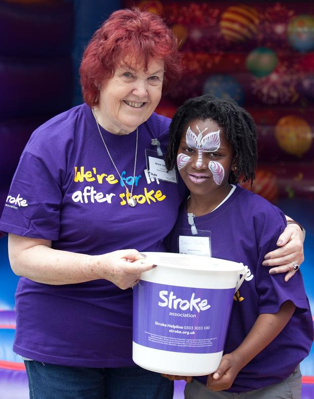 This Is Local London: Anne Jones, 73, who is a stroke survivor pictured with Deborah Soile, 7