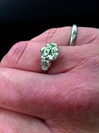 A photo of a diamond ring which was stolen during the burglary