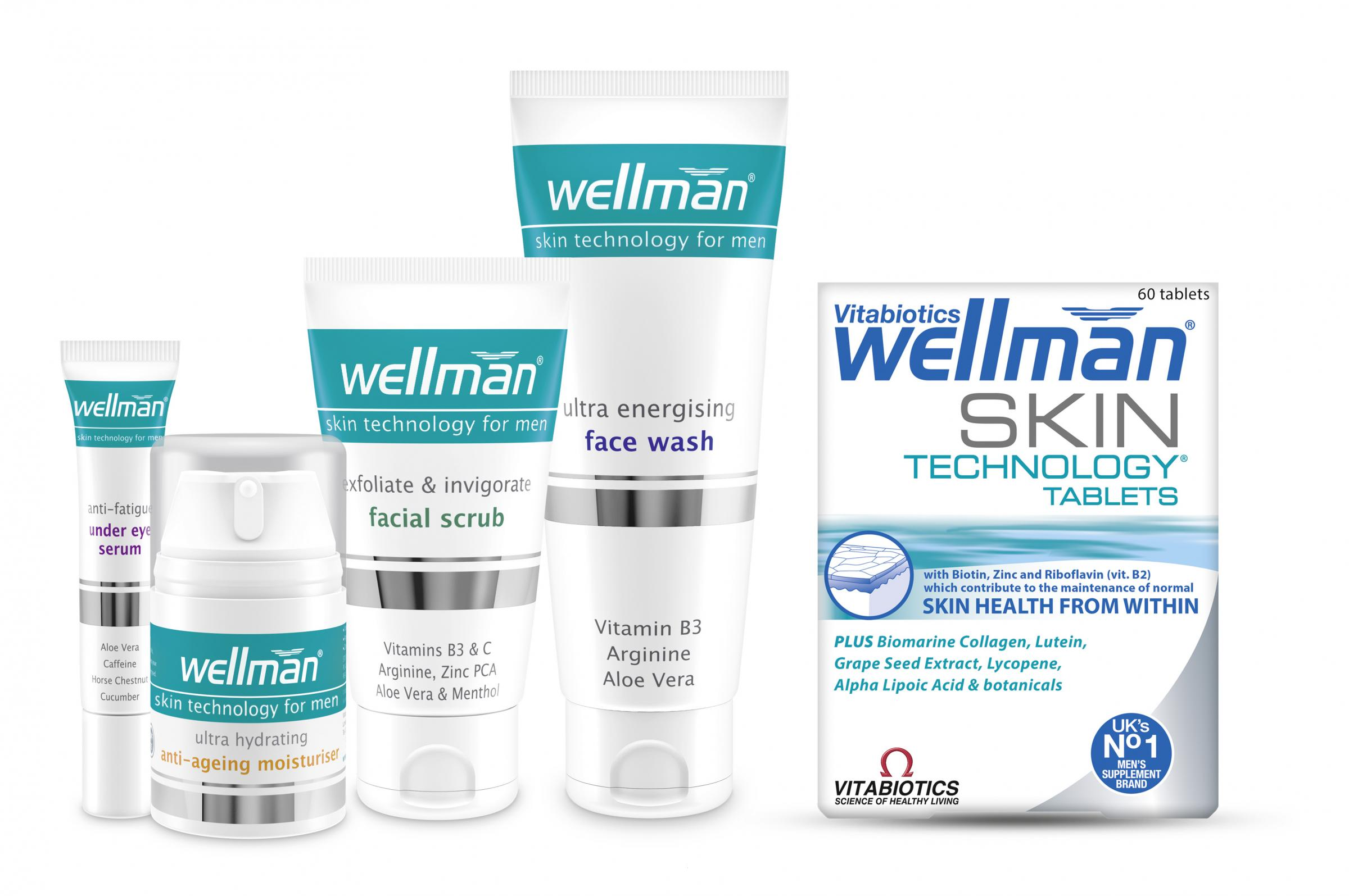 WIN Wellman skincare products and vitamins for Father's Day