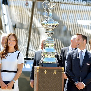 Kate support for America's Cup bid