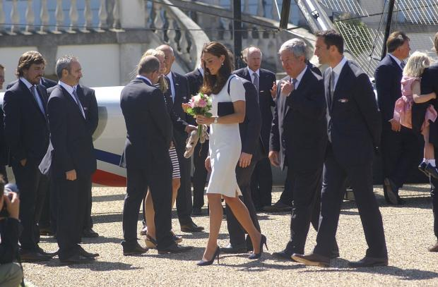 This Is Local London: PICTURED: Duchess of Cambridge in Greenwich for Britain's America's Cup glory bid