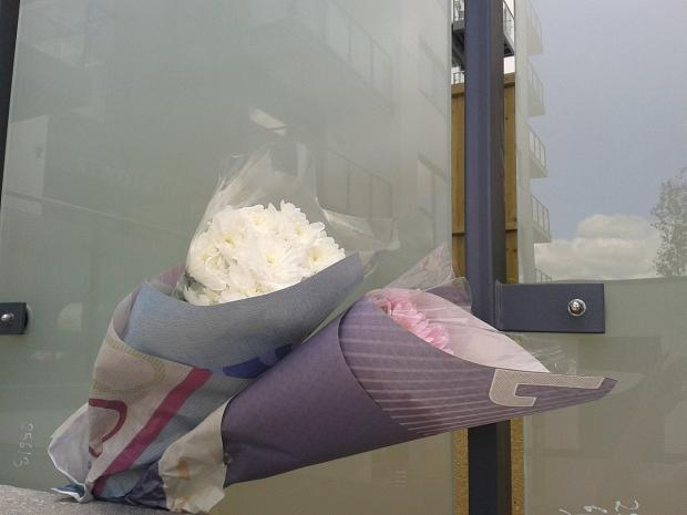 This Is Local London: Flowers left at the scene today