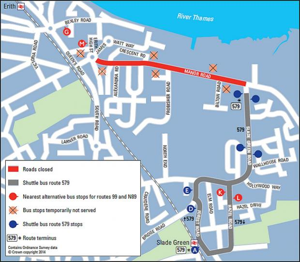 Public transport will be affected by the 10 week closure of Manor Road.