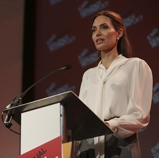 Angelina Jolie has been praised by William Hague