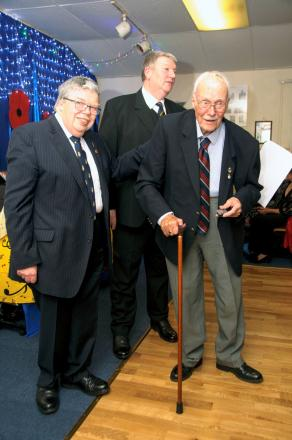 Great stuff: Peter Inman got the award from Richmond's Royal British Legion