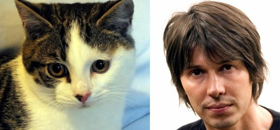 Pet of the Day Professor Brian Cox, left, with his human namesake on the right