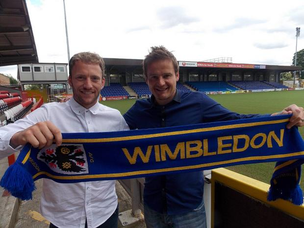 Me and the gaffer: Dons new boy Sean Rigg with Neal Ardley