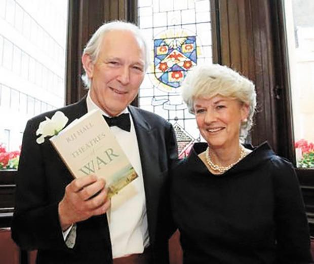RJJ Hall and his wife with his People's Book Prize award