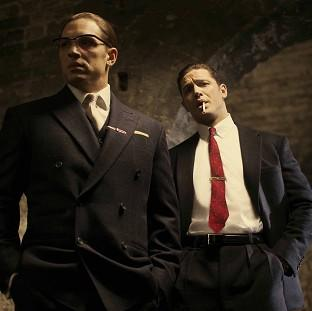 Tom Hardy in his latest roles as Ronnie (left) and Reggie Kray in the film, Legend (Studiocanal)
