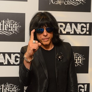 Marky Ramone arriving at the Kerrang Awards, at the Troxy