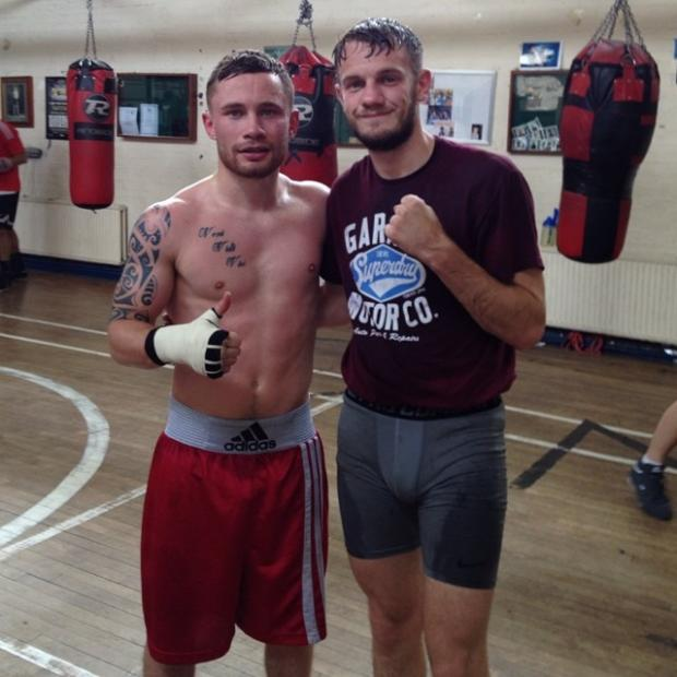 This Is Local London: Sparring partners: Cassius Connor, right, with the IBF super bantamweigh