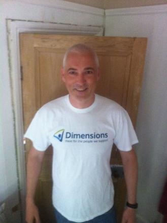Mark Pearce will skydive 10,000ft for Dimensions tomorrow.