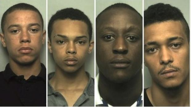 (Left to right:) Trey Johnson, Dominic Brookes, Jeramiah Reynolds and Patrick Brookes all denied the offence