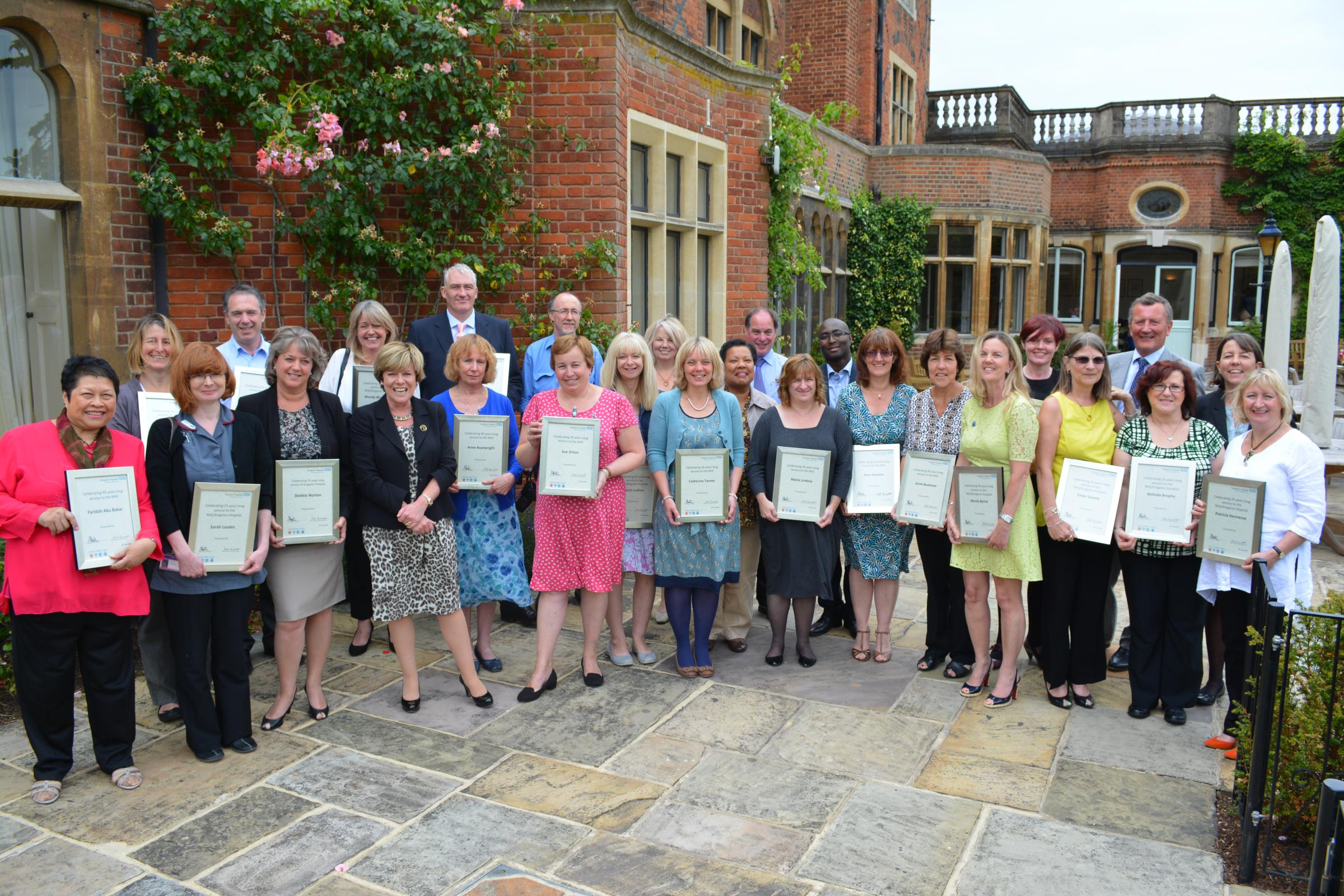 Kingston Hospital staff recognised for long service