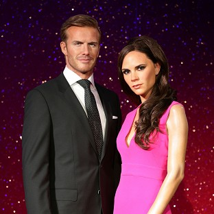 The new wax figures of David and Victoria Beckham