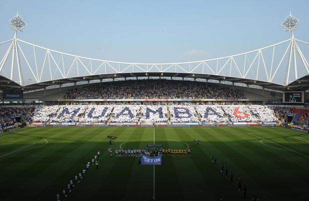 Bolton Wanderers' fans created a mosaic tribute for Fabrice Muamba as he recovered from a cardiac arrest. Picture: Action Images