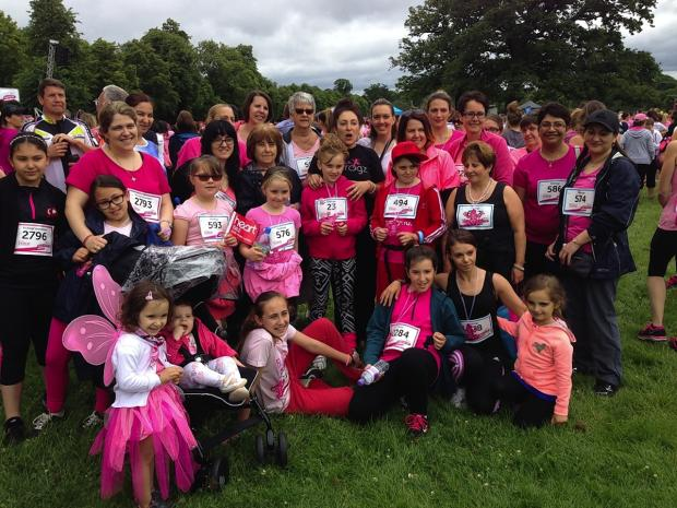 The Pink Frogz took part in Race for Life in Enfield